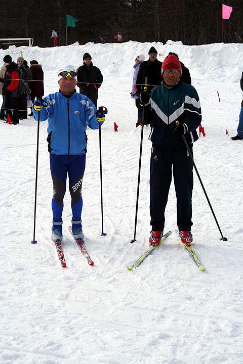 Павел Ломов (справа) – постоянный участник Праздника лыж