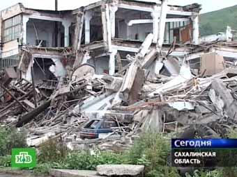 Последствия землетрясения в г. Невельск